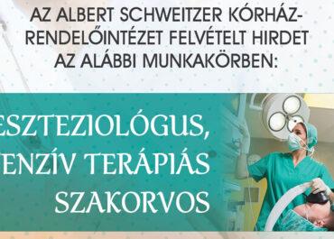 Aneszteziológus, intenzív terápiás szakorvos