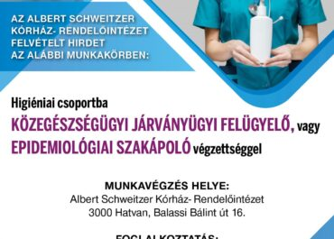 Közegészségügyi járványügyi felügyelő vagy epidemiológiai szakápoló